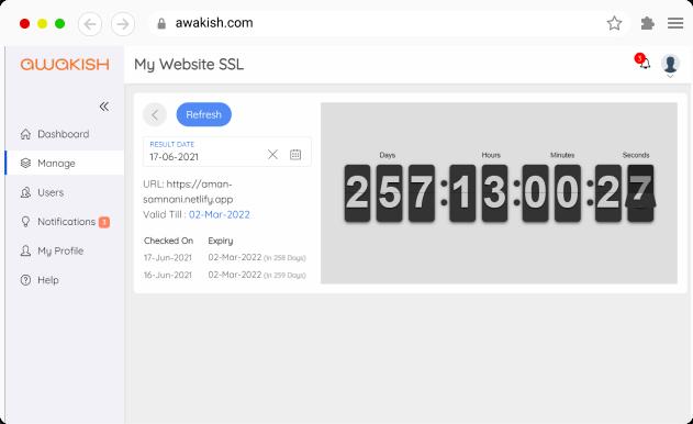 SSL Certificate Expiry Monitoring